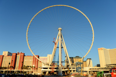 The High Roller Seen from behind the Strip. Massive!