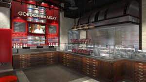 3D Rendering of Gordon Ramsay Fish & Chips Vegas Linq